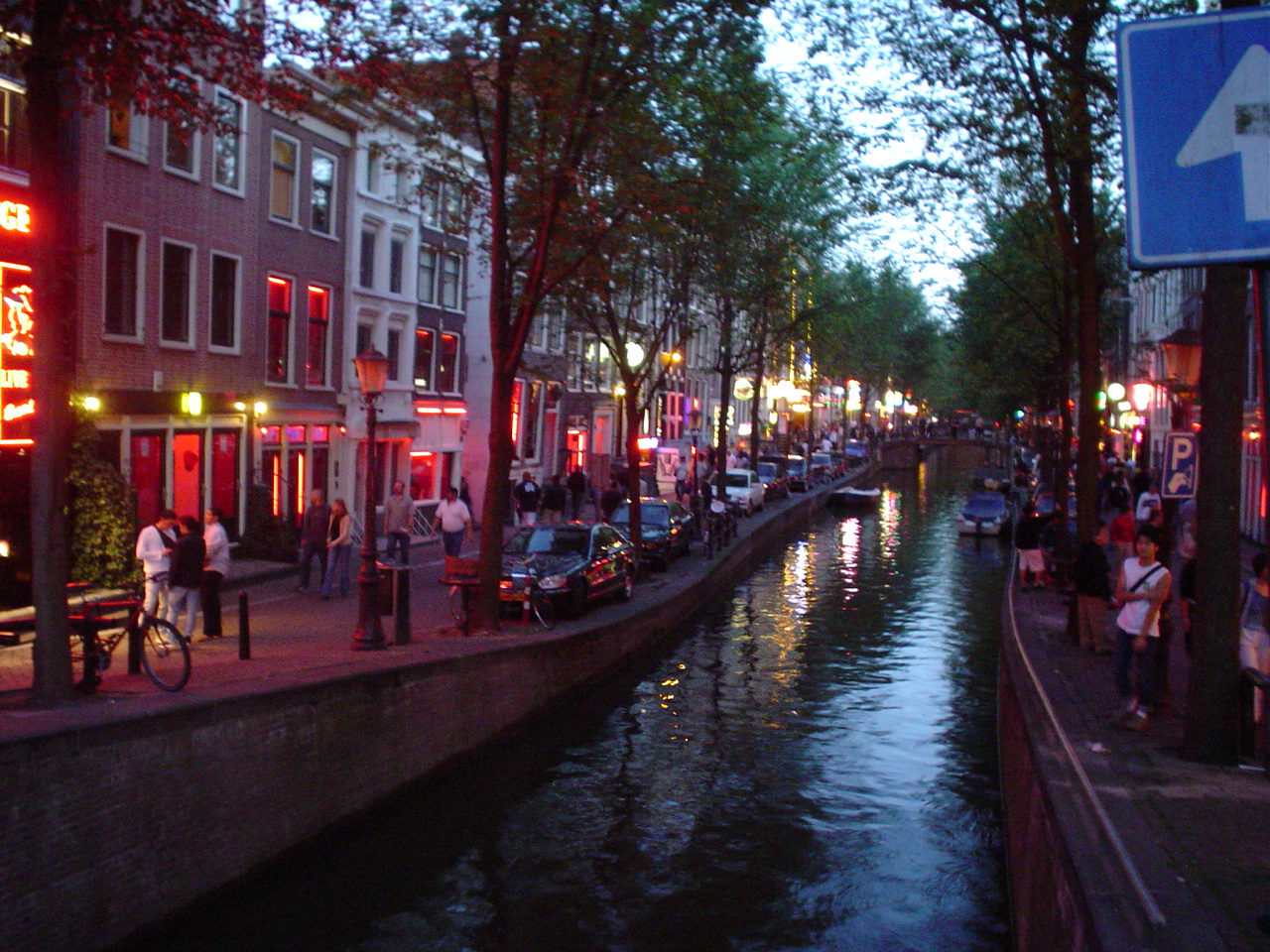 The famed Amsterdam red light district.